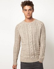 ASOS Cable Crew Neck Sweater