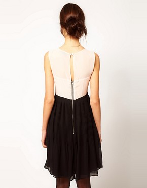 Image 2 ofWarehouse Embroidered Bodice Dress