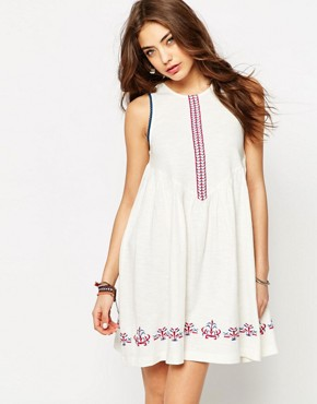 ASOS Embroidered Smock Sundress
