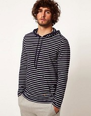 Polo Ralph Lauren Stripe Hooded Long Sleeve Top