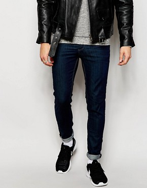 Selected Homme Dark Blue Jeans In Skinny Fit