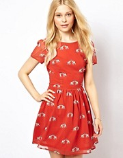 Sugarhill Boutique Skater Dress in Ellie Print
