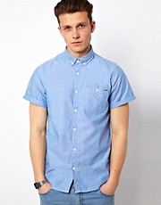 Solid Oxford Short Sleeve Shirt
