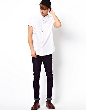 Image 4 ofRiver Island Oxford Short Sleeved Shirt