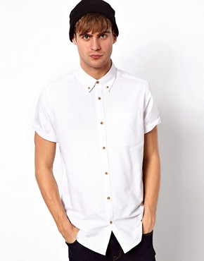 Image 1 ofRiver Island Oxford Short Sleeved Shirt