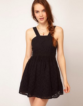 Image 1 ofDahlia Fringed Lace Skater Dress