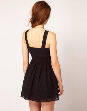 Image 2 ofDahlia Fringed Lace Skater Dress