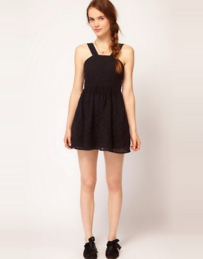 Image 4 ofDahlia Fringed Lace Skater Dress