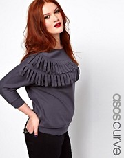 ASOS CURVE - Maglia con frange