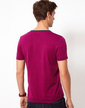 Image 2 ofASOS T-Shirt With Speckle Jersey And Contrast Pocket