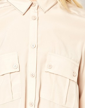 Image 3 of River Island Stud Collar Blouse