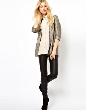 Image 4 of River Island Stud Collar Blouse