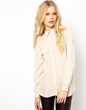 Image 1 of River Island Stud Collar Blouse