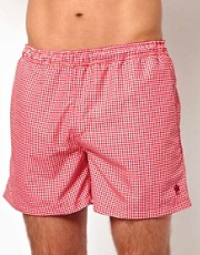French Connection Gingham Swim Short