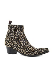 Jeffery West Leopard Chelsea Boots