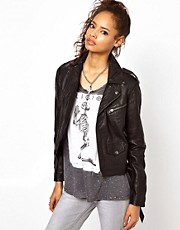Religion Leather Hopper Biker Jacket