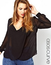 ASOS CURVE Blouse With Drop Neck