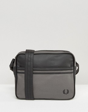 Fred Perry Coated Canvas Messenger Bag