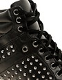 Image 2 ofALDO Helianthe Black Studded Wedge Trainers
