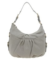 Ameko Leather Ruched Handbag