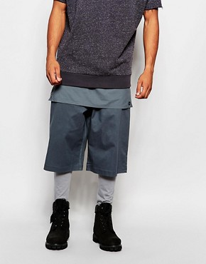 ASOS Meggings With Short And Panel Layer Detail
