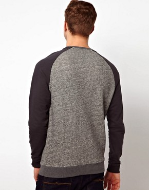 Image 2 ofASOS Sweatshirt In Twisted Yarn With Contrast Sleeves