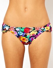 ASOS Floral Ruffle Bikini Hipster Pant