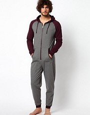 River Island Red Raglan Onesie