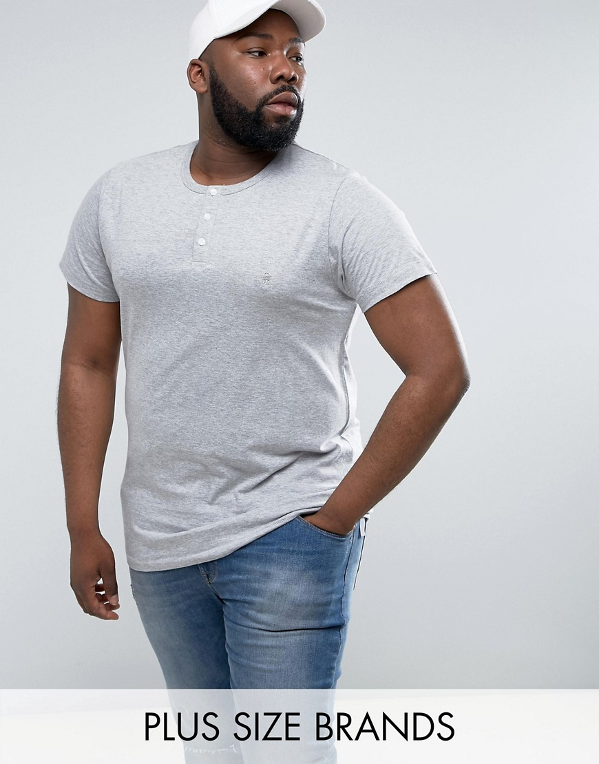 French Connection PLUS Henley T-Shirt - Grey
