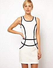 Mango Panel Body-Conscious Dress