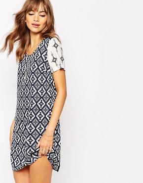 Vila 70's Geo Print Dress