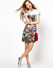 Paul by Paul Smith Pencil Skirt in Digital Floral Print