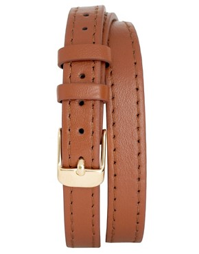 Image 4 ofOasis Gold Tonneau Leather Strap Watch
