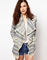 Warehouse Drape Jacket In Aztec Print