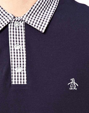 Image 3 ofOriginal Penguin Polo with Check Collar