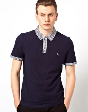 Image 1 ofOriginal Penguin Polo with Check Collar