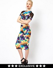 Freak of Nature Midi Skirt In Day Tripper Print