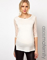 ASOS Maternity Exclusive Top With Lace Sleeve