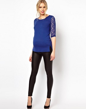 Image 4 ofASOS Maternity Exclusive Top With Lace Sleeve