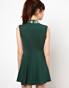 Image 2 of Sister Jane Swing Dress with Embellished Neck