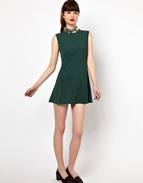 Image 4 of Sister Jane Swing Dress with Embellished Neck