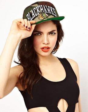 Image 1 ofZephyr Blackhawks Camo Snapback Cap