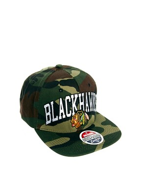 Image 4 ofZephyr Blackhawks Camo Snapback Cap