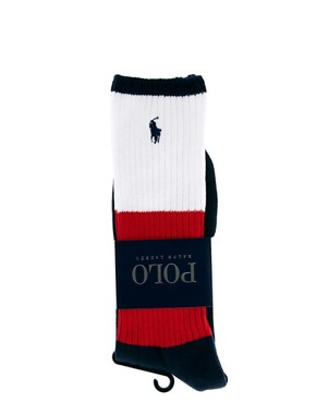 Image 3 ofPolo Ralph Lauren Colour Block Sports Socks