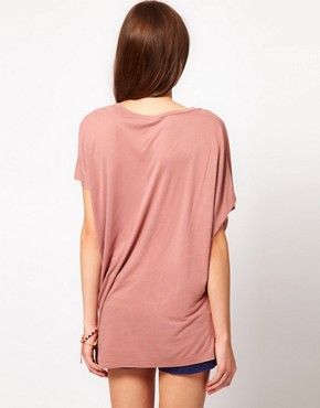 Image 2 ofFrench Connection Drapey Jane Asymmetric T-Shirt