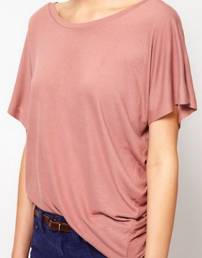 Image 3 ofFrench Connection Drapey Jane Asymmetric T-Shirt