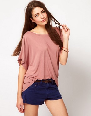 Image 1 ofFrench Connection Drapey Jane Asymmetric T-Shirt