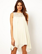 TFNC Swing Dress in Jewelled Crochet