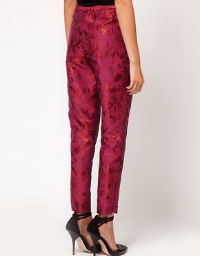Image 2 ofASOS Floral Jacquard Trousers