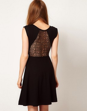 Image 2 ofFrench Connection Lace Insert Skater Dress